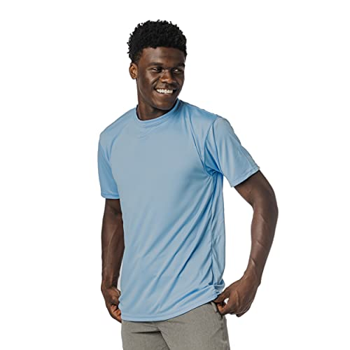 Vapor Apparel Men's UPF 50+ UV Sun Protection Short Sleeve Performance T-Shirt for Sports and Outdoor Lifestyle, X-Large, Columbia Blue