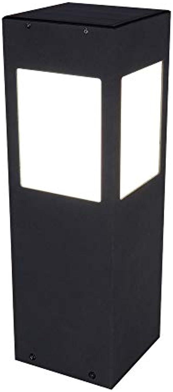 Luxus LED SOLAR Steh Leuchte Terrassen Sockel ALU Strahler Bewegungsmelder Lampe Globo 33624S