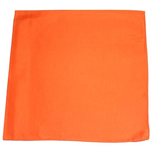 Mechaly Set of 12 Solid 100% Polyester Unisex Bandanas   One Dozen,Orange,22 in