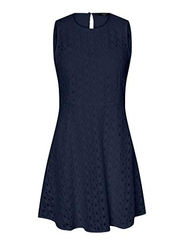 Vero Moda Vmallie Lace S/L Short Dress Noos Vestido Formal para Mujer