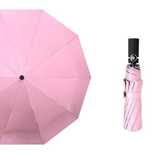 DJMJHG 10k Windproof Folding Automatic Blue Sky&white Clouds Umbrella For Women Men Uv Auto Sun Rainy Umbrella pink uv