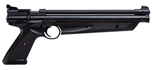 Crosman P1322 American Classic Multi Pump .22-Caliber Pneumatic Pellet Air Pistol, Black