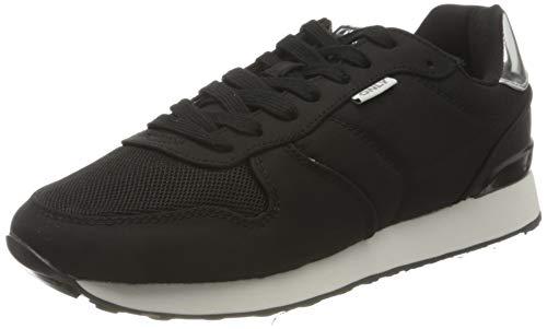 ONLY ONLSAHEL-4 Metallic Sneaker, Zapatillas Mujer, Negro, 39 EU