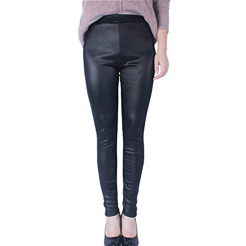 Suncaya Pantalones De Cuero De Terciopelo Winter Plus para Mujer Leggings Gruesos Gruesos De Cuero De Gran Tamaño