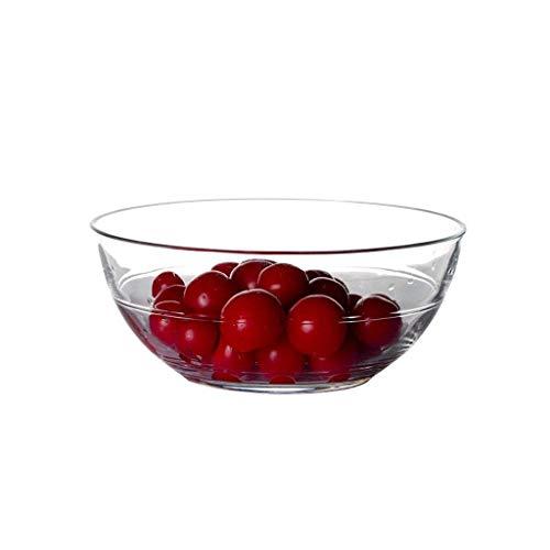 Onior Cuenco de cerámica tazón de Hogares transparente resistente al calor de cristal bowl cena estilo europeo engrosamiento linda ensalada de fruta grande tazón de cristal de Corea tazón Triple cerra