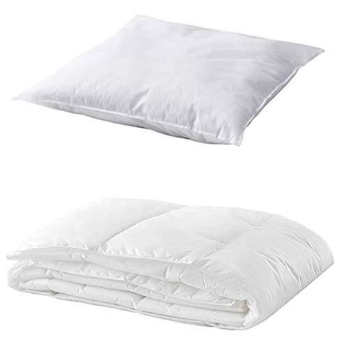 IKEA 2-TLG. Bettenset Decke + Kissen Bettdecke 140x200 Kopfkissen 80x80