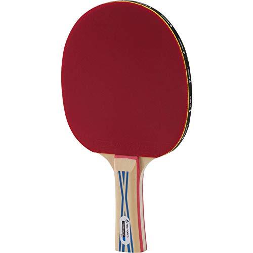 TECNOPRO Tischtennis-Schläger Tournament 2 Stern Tischtennisschläger, Schwarz/Rot, One Size