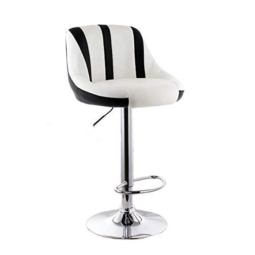 smzzz Verstellbarer drehbarer Barhocker PU-Sitz Höhenverstellbarer Küchentisch Drehbarer Barhocker