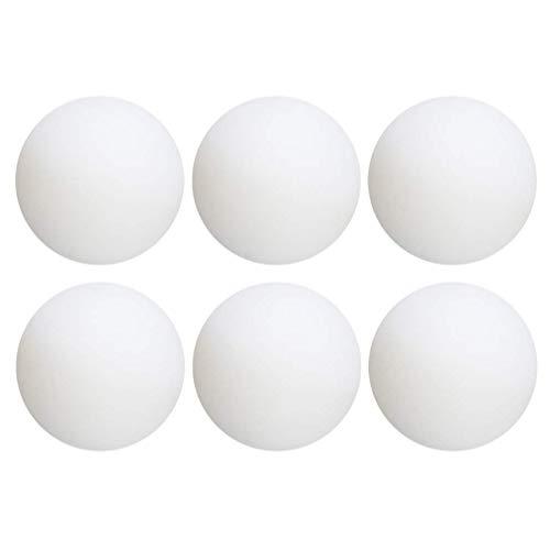 LIOOBO 6 Piezas Pelotas de Tenis de Mesa Pelotas de Ping Pong de Entrenamiento al Aire Libre en Interiores (Blanco)