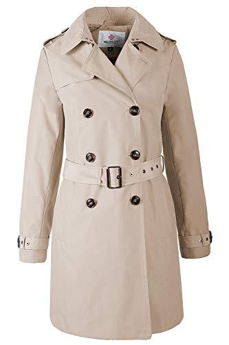 Grimada F3773 Damen Mantel Trenchcoat Melisa (XL, beige)