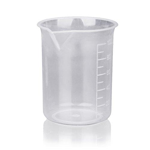 aokayy Laboratorio Cocina Taza 4pieza graduierte Vaso Medidor de plástico transparente 50150250500ml