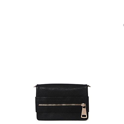 PATRIZIA PEPE Woman faux Leather clutch bag black unique