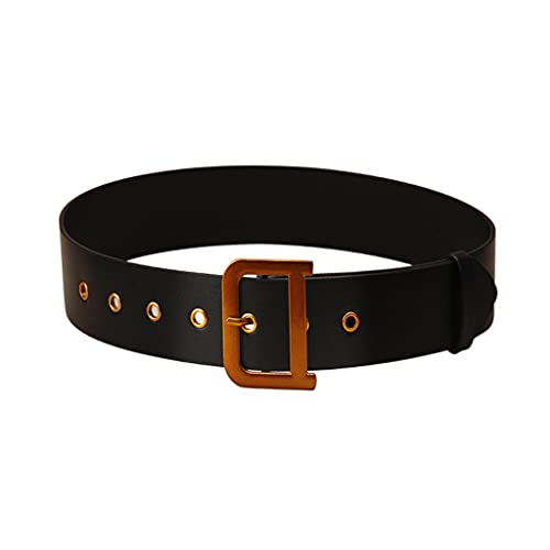 RTUGOVT women belt - Casual Jeans Belt For Women Fashion Leather Belt Casual Luxury Metal Buckle Belt With D-shaped Buckle Women
