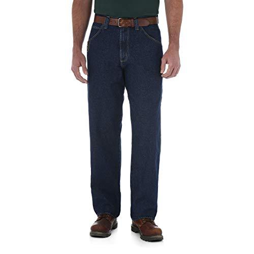 Wrangler Riggs Workwear Men's Contractor Jean, Antique Indigo, 34x30 (Riggs Utility Jeans)