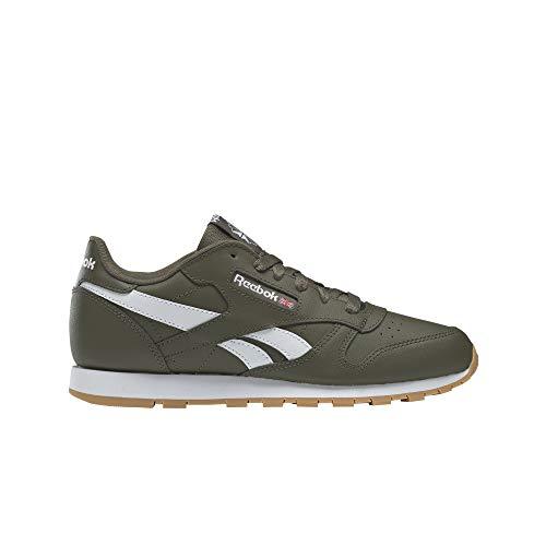 Reebok Classic Leather Groen/Wit (Army Green/White) Leer Jeugd Sneakers Schoenen