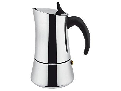 ILSA Elly, Caffettiera Espresso per Induzione, Acciaio Inox 18/10 , Argento, 4 tazze