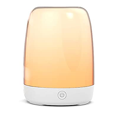 Smart Night Light Treatlife Bedside Lamp Works with Alexa and Google Home, Automated Schedules, APP Control Table Lamps for Bedrooms, Dimmable Light & Color Changing RGB Glow Light