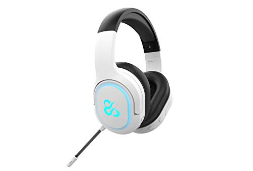 Newskill Scylla Ivory - Auriculares Gaming RGB Inalámbricos PC/PS4/PS5/Switch/Xbox One/Xbox Series X/S - Color Blanco