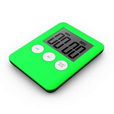 Super dünne LCD-Bildschirm Digitale Küchenuhr Platz Kochen Count Up Countdown Alarm Magnet Uhr (Color : Green)