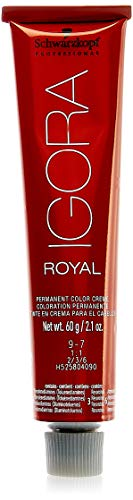Schwarzkopf Professional Igora Royal Hair Color, 9-7, Extra Light Copper Blonde, 60 Gram