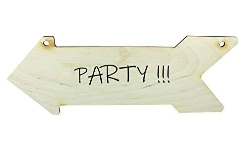 Net4Cliente Flecha de Madera en Forma de Signo Decoración del Partido Flecha Decoración de la Boda Signos Flecha Decoración Madera Hecha a Mano Flechas Arte de la Pared