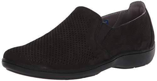 Aravon Women's Lia Slipon Sneaker, Black, 9 Narrow