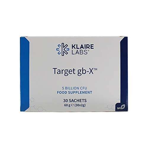Mood Probiotic Powder - Klaire Labs Target gb-X with Bifidobacterium & Lactobacillus, Clinically Demonstrated to Promote Positive Mood, Shelf-Stable & Hypoallergenic for Men & Women (30 Packets)