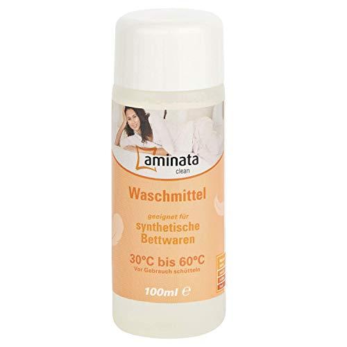 Aminata Clean – Waschmittel für synthetische Bettwaren hochkonzentriertes Flüssig-Waschmittel speziell entwickelt - gegen Milben - Mikrofaser Bettwäsche - Kissen, Decken & Funktionsbekleidung