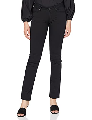 Preisvergleich Produktbild Mavi Olivia Damen Straight Jeans , Schwarz (Double Black Str 23746)