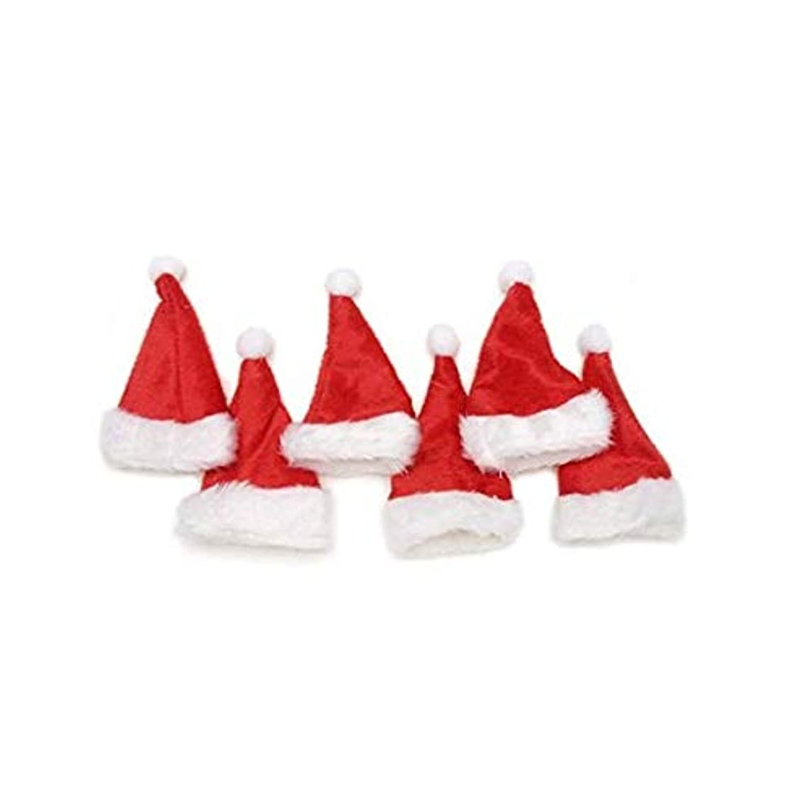 Mini Christmas Hat Red and White 5 1/2 Inches Tall X 3 Inches Wide X 6 Pieces Per Package 2510-409