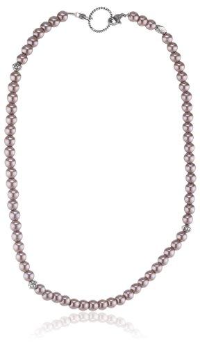 EDC Damen-Halsband Edelstahl rhodiniert Perlmutt Innocent Pearly Purple violett EENL10237A420