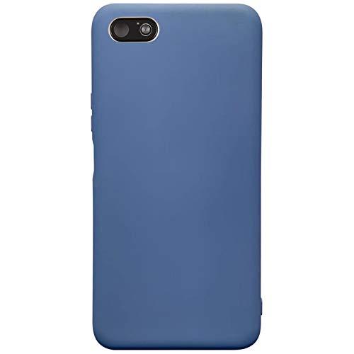 Compatible para Xiaomi Redmi 6A Carcasas(2018)+3D Protectores de Vidrio Templado/Case Caso Silicona TPU Airbag Anti-Choque Bumper Ultra-Delgado Blandas Fundas para Xiaomi Redmi 6A-Azul