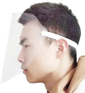 du Pollen et de la poussi/ère Capuchon de Protection du Visage Masques faciaux Casque de Protection faciale Couleur al/éatoire visi/ère de Protection Transparente pour la pr/évention de la salive