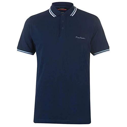 Pierre Cardin Herren-Poloshirt mit Kipp-Kragen, kurzärmeliges Shirt, Oberteil Gr. XL, navy
