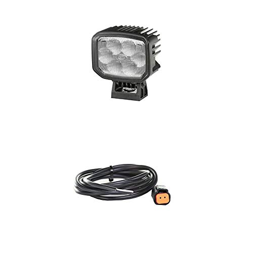 Hella 2ZR 996 188-521 Rückfahrscheinwerfer Power Beam 1000 compact, 12V & 24V, 1.000 Lumen + Kabelsatz, Arbeitsscheinwerfer, 2.000 mm Leitung mit Deutsch-Stecker, Schwarz