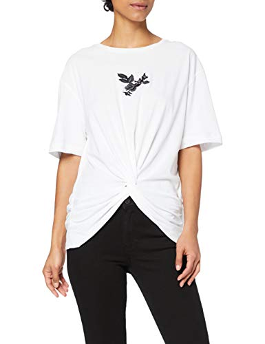REPLAY W3559A.000.22660 Camiseta, Blanco (001 White), XS para Mujer