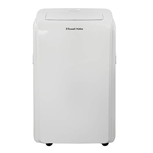 Russell Hobbs RHPAC11001 1200W 11000BTU White 2 in 1 Portable Air Conditioner & Dehumidifier with Remote Control, LED Display & Integrated Timer