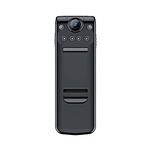 SXTYRL Telecamera Spia, Portatile, Nascosta Videocamera, Visualizzazione Grandangolare, Micro Telecamera, per Interno Videosorveglianza, Batteria (Color : Black, Size : 128G)