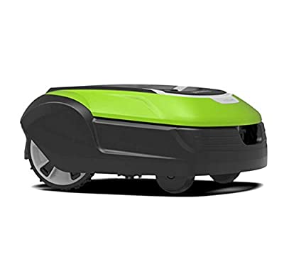 HEN'GMF Robotic Lawn Mower, Battery Powered Mower-8.7-inch Mowing Smart Robot Lawn Mower, Suitable for Yards Up to 1500m², IPX5,A