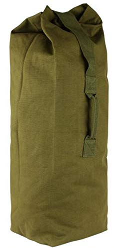 Farm Blue Top Load Duffle Bag - XX Large Military Duffel Bags - Heavy Duty Army Grade Cotton Canvas Duffle bags For Men Women & Students - Front Loading Tactical Gear Sack - 30' x 50' (OD Green-XXL)