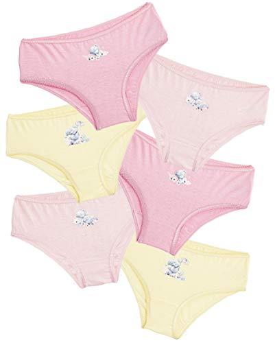 Me to You Tatty Teddy Unterhosen Mädchen, 100% Baumwoll Slip Kinder Set, 6er Pack Unterwäsche, Süße Mädchen Kleidung, Geschenke für Kinder (5-6 Jahre)