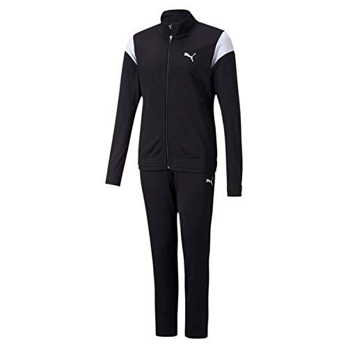 PUMA Mädchen Alpha Suit G Trainingsanzug, Black, 140