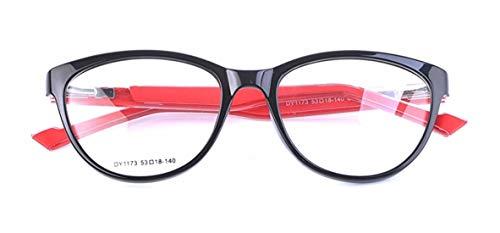 Fads & Fashions MT90 Alta Calidad Ojo de Gato TR90 + Goma Enmarcado Gafas de Lectura 4 Colores +1.5 +2.0 +2.5 - Rojo y Negro