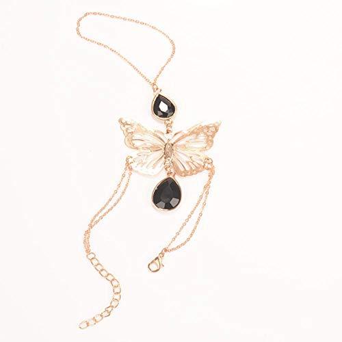 NA Armband SchmuckNeue Mode Boho Sklavenkette Blume Wassertropfen Edelstein Armreif Damen Schmuck Geschenk Gold Farbe