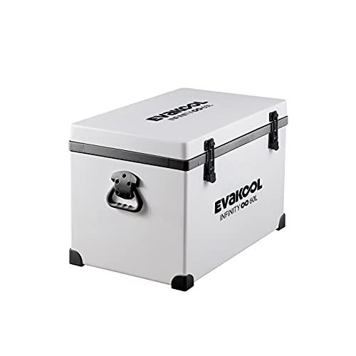 EVAKOOL E060 60L Fibreglass Icebox, White