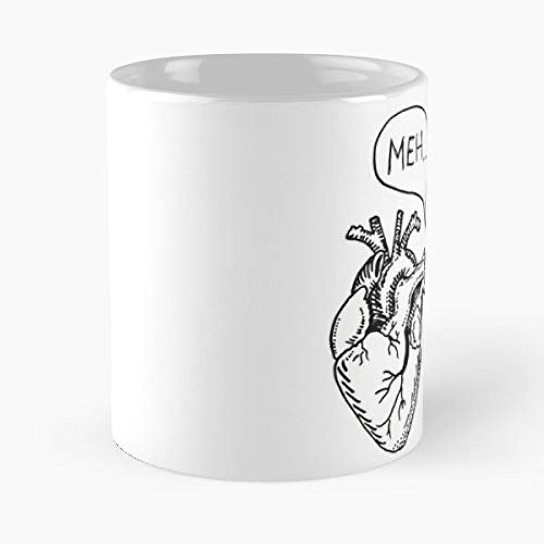 Meh Cartoon Fun Joke -funny Gifts For Men And Women Gift Coffee Mug Tea Cup White-11 Oz.