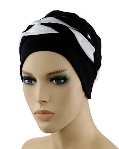 Fashy® Damen Badehaube im Retro-Design, Folieninnenhaube und Silikonabdichtung