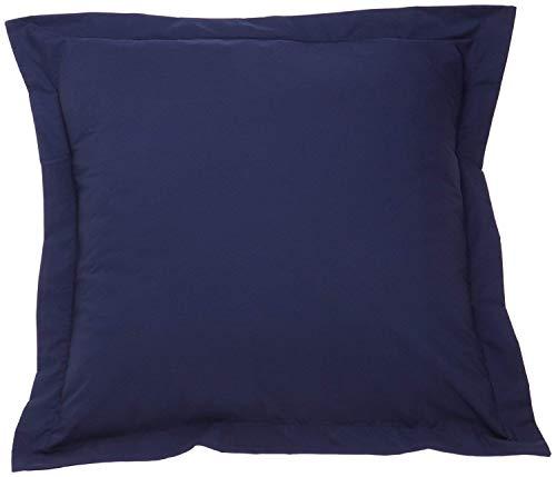 Comfort Beddings Lot de 2 taies d'oreiller de qualité supérieure 100 % coton égyptien 420 fils Bleu marine (continental/carré 65 x 65 cm)