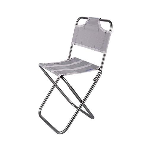 Portable Folding Chair for wandelen, Camping, Het bekijken van voetbalwedstrijden, Hengelsport, Picnic, BBQ fauteuil grijs/blauw/zwart (Color : Gray)