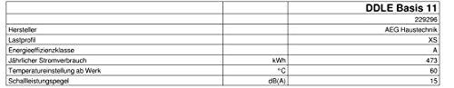 AEG elektronischer Durchlauferhitzer DDLE Basis, 11 kW für die Küche, Temperaturwahl durch Anwendugssymbole, 229296 - 9